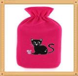 熱湯びんのための小さくかわいい動物パターンプラシ天カバー