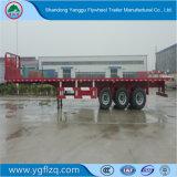 Fuwa 차축 이중성 타이어 강선전도 자물쇠를 가진 반 평상형 트레일러 3 차축 화물 수송기 트레일러