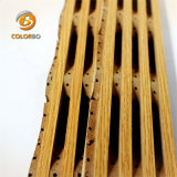 Le design intérieur de l'acoustique de bois panneau en bois dans la nouvelle construction