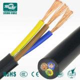 3 Cabo de alimentação plana macho do cabo elétrico de fios de cobre