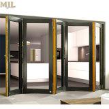 Portelli esterni del blocco per grafici di piegatura Bifold di alluminio di vetro Tempered da vendere