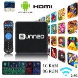 Het androïde Vakje van TV met Draadloze van het Toetsenbord van Amlogic S905X Sunnzo1GB Ram/8gb- ROM Kodi 17.3 Vastgesteld Hoogste Vakje