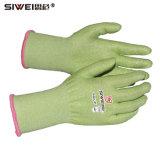En388 Зеленый Hppe против вырезать устойчивые перчатки уровня 3