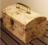 Haut de gamme pique-nique pratique enduire capot papier Mini boîte cadeau valise, de la nourriture la boîte de rangement