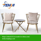 Tecido moderno Cadeira de banco de lazer de repouso Home Hotel Jantar mobiliário com Varanda