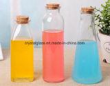 Geformter Eis-Tee-milchiger Tee-Glasflasche mit Korken