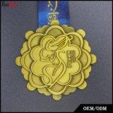 転送によって印刷される締縄が付いている高品質メダル