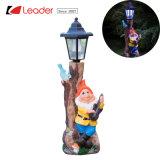 Jardín nuevo Gnome con lámpara Solar puesto para la decoración al aire libre, hacer su propio jardín de luz