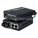 10/100M 2 puertos RJ45 Convertidor de medios de fibra