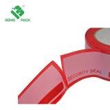De rode Band van de Verbinding van de Veiligheid van de Overdracht van de Band van de Garantie van de Stamper Duidelijke Verzegelende Nietige Open