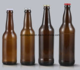 Frasco de vidro transparente para embalagens de cerveja
