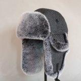 Windproof Orejeras cálido invierno Trapper Faux Fur Federación Hat