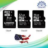 USBの電話のためのフラッシュマイクロSDのカードのメモリ棒のクラス4のクラス6のクラス10 2GB 4GB 8GB 16GB 32GB 64GB 128GB 25MB/SのメモリカリホルニウムのカードTFのカード