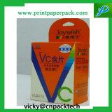 Пользовательский жесткий картон витамины Tablet упаковке холодной средств правовой защиты коробки шоколадных конфеты отображения окна для различных рекламных продуктов