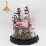 Criação de flores artesanais Flores preservadas no globo de vidro