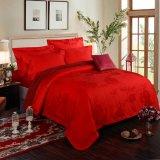 卸し売り贅沢な赤いカラー結婚式のEmbroideriedのホテルの寝具(JRD191)