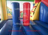 Cue la diversión de niños de la casa inflable castillo inflable con tobogán