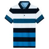 Os homens elegante' S T-shirt Casual mangas curtas com listra de Camisa camisa Polo