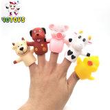 Plástico de PVC de animales de granja de títeres de dedo de goma Toy