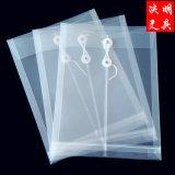 Alça à prova de plástico PP personalizados Envelopes String Bag Multi-Color documentos de tamanho Carta Proteger os sacos fabricados na China
