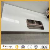 In het groot Zuivere Witte Prefab Kunstmatige Countertop van de Steen van het Kwarts voor Keuken