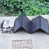 14W 5V/18V bewegliche Aufladeeinheits-faltende Sonnenkollektor-Solaraufladeeinheit mit wahlweise freigestelltem USB, Gleichstrom ausgegeben (FSC-14B)