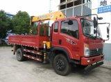 Sinotruk 4X2 경트럭 기중기 8t Cdw 가벼운 기중기 트럭