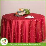 싼 폴리에스테 둥근 수를 놓은 꽃 디자인 테이블 피복