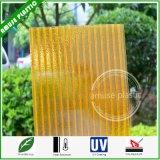 Strato vuoto di cristallo doppio arancione di Policarbonato con UV