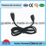 Штепсельная вилка шнура силового кабеля UL Approved с американским стандартом высокого качества