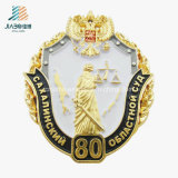 La policía de encargo del oro del esmalte 3D de la venta al por mayor de la fábrica de Jiabo Badge los contactos