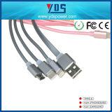 Tipo-c cable del USB 2.0 del USB del cargador del teléfono móvil de la longitud