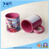 Taza de cerámica a todo color del espacio en blanco de la sublimación