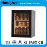 refrigerador de la bebida de la puerta de cristal del hotel 30-65L mini