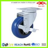 파란 탄력 있는 고무 피마자 바퀴 (P120-33D75X32S)