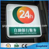 Un éclairage lumineux de l'acrylique formé de signalisation de la Banque (GV-LB)