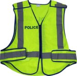 Veste elevada de Visiblity da segurança com fita reflexiva