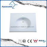 Het Witte Bassin van uitstekende kwaliteit van Polymarble van de Markt van Au van de Kleur