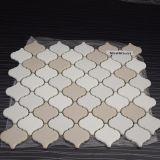 Mattonelle di mosaico di ceramica beige bianche di arte della lanterna di vendite calde