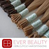 Dyeable Stick/Iの先端のバージンの人間の毛髪の拡張
