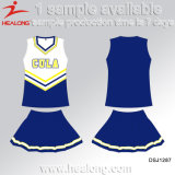 Cheerleading Jersey da impressão do Sublimation de Sporstswear do projeto de Healong Fashinon