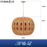 Heiße Verkäufer-natürliche hölzerne Haut-hängende Lampe für Wohnzimmer