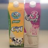 곡선을%s 가진 3개의 층 신선한 우유 또는 주스 또는 크림 또는 포도주 또는 물 박공 상단 판지 상자