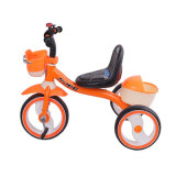 3명의 짐수레꾼 아이 자전거는 빛을%s 가진 금속 아이들 세발자전거를