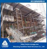 プレハブの家のためのHのビームが付いている溶接された鉄骨構造のまっすぐな階段