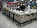 Contador del soporte de exhibición de los mariscos de los pescados