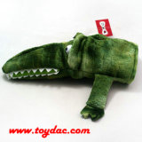 Зеленая игрушка марионетки руки крокодила плюша