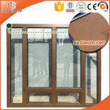 アルミニウム覆われたカシ木開き窓Windowsの最新のデザイン高品質の木製の窓の格子デザイン