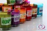 100% natürliches wesentliches Öl-Sojabohnenöl-Wachs-duftende Glasgeschenk-Kerzen