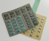 Il metallo tattile ricoperto tastiera di gomma copre con una cupola l'interruttore di membrana (MIC0873)